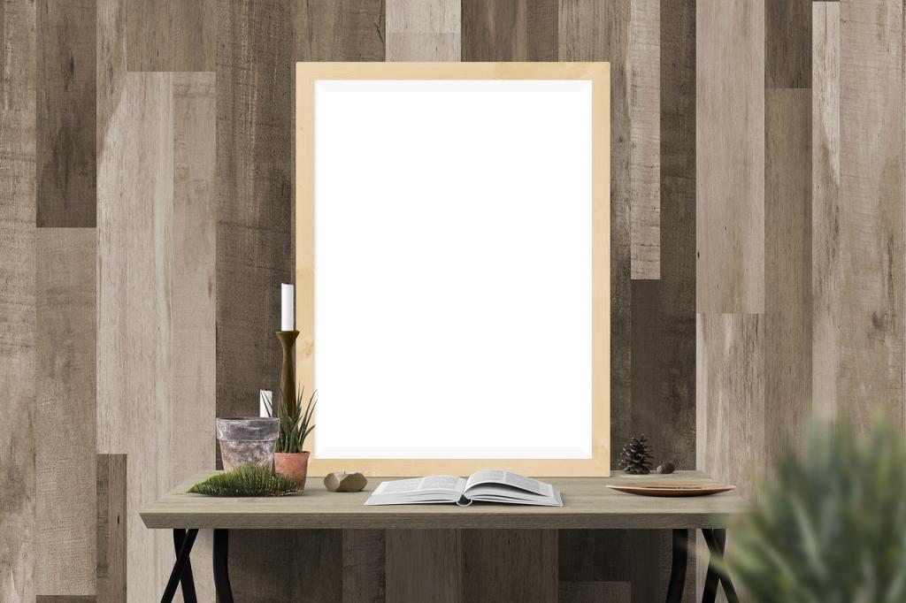 houten wandbekleding spiegel